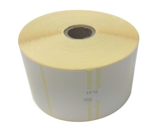 Etiketa na kotouči 68x38mm, papírová