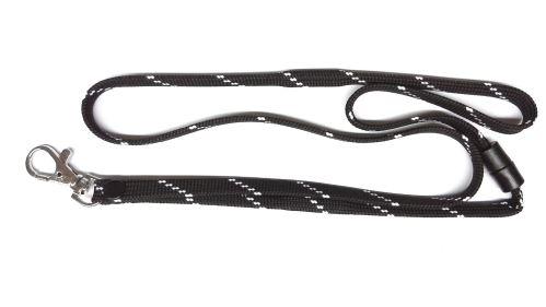 UHF RFID lanyard, black & white,metal carbine
