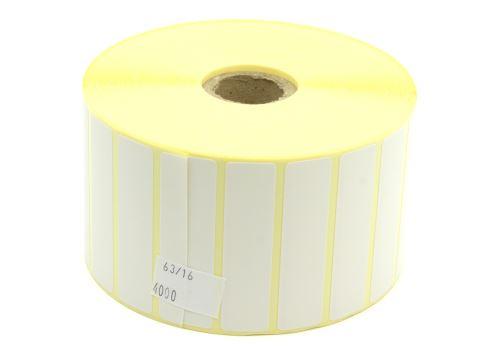 Etiketa na kotouči 63x16mm, papírová