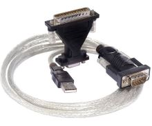 PremiumCord Konvertor USB2.0 - serial RS232 - kabel