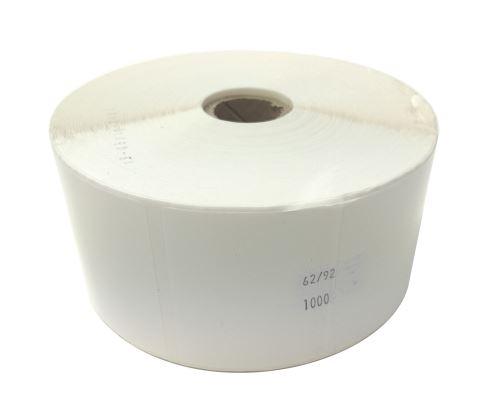 Adhesive Polyethilen labels 62x92mm (price per 1000pc, 1000 pc/roll)