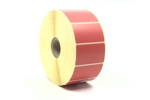 Papír. etiketa 50x30mm, červená barva